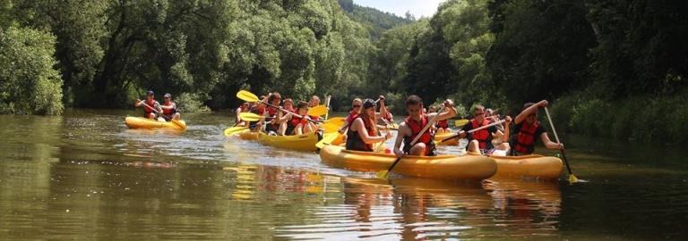 SUMMER FUN: CANOEING NEARPRAGUE