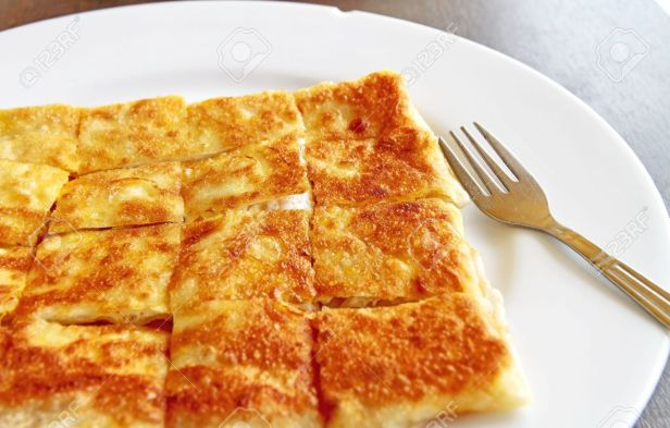 23205063-crispy-pancake-named-roti-fried-bread-with-butter-and-egg-stock-photo