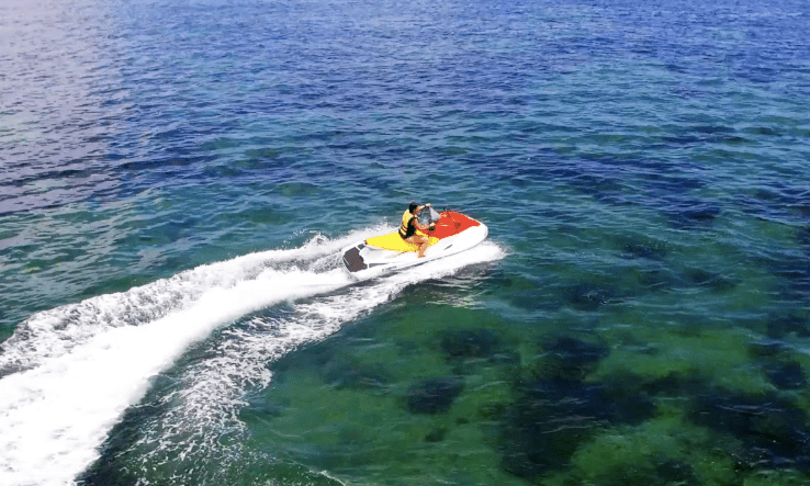 Flying a Drone Over a Jet Ski in Bali (Video)