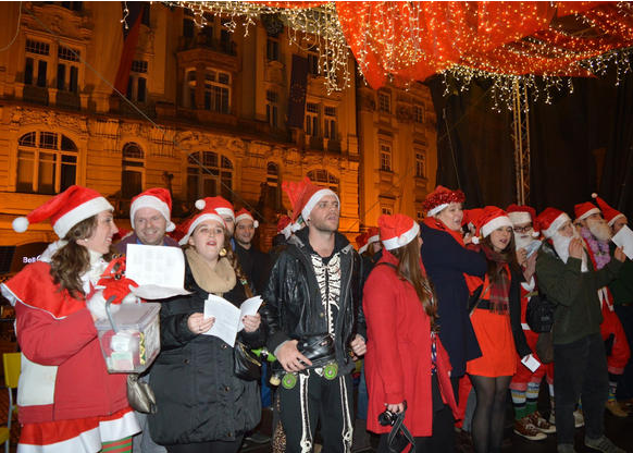 Santa Con in Prague, Christmas 2014