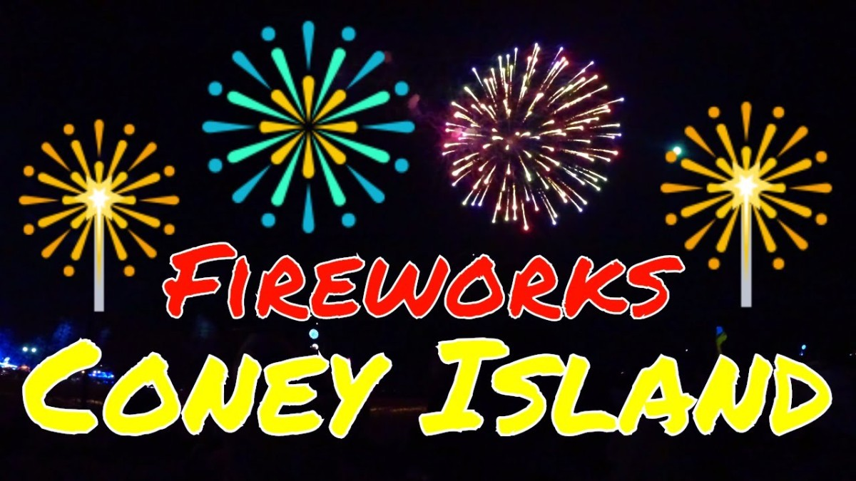 Last Firework Display of Summer 2018: Coney Island, NYC